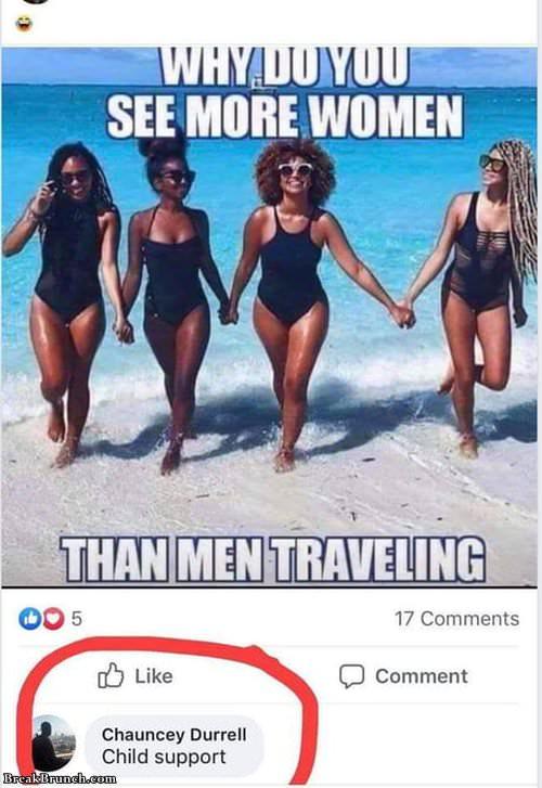 Why more women travel than men