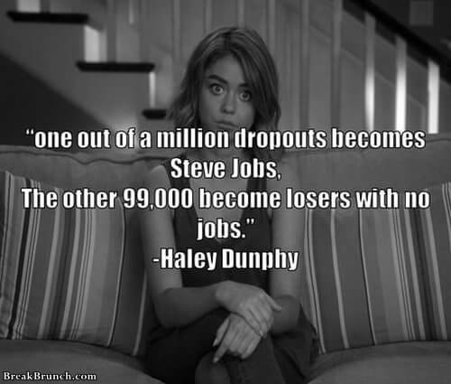 Wise word from Haley Dunphy