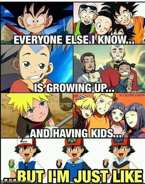 Ash will never grow up
