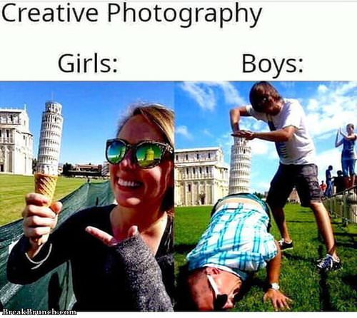 Creative photo by girl and boy