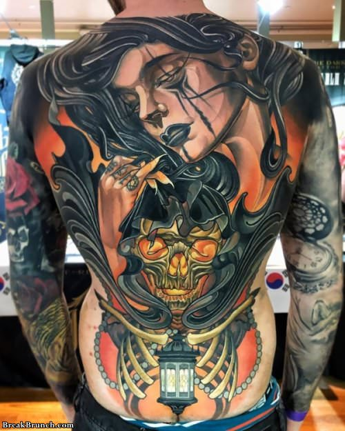 35 stunning full back tattoos