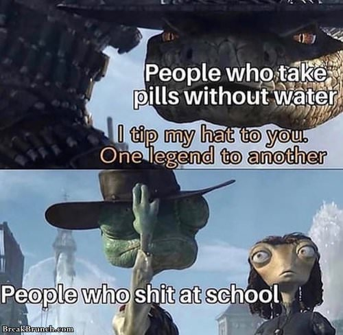 People who shit at school