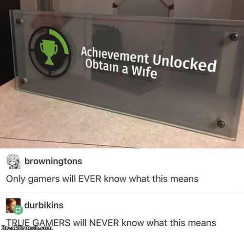Obtain a wife achievement unlocked