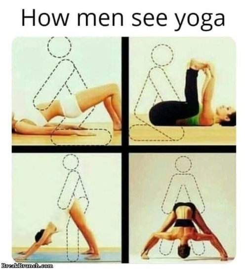 How men see yoga