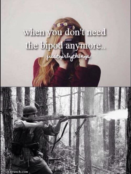 When you don't need bipod