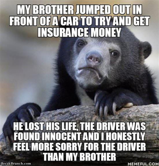 Poor car driver