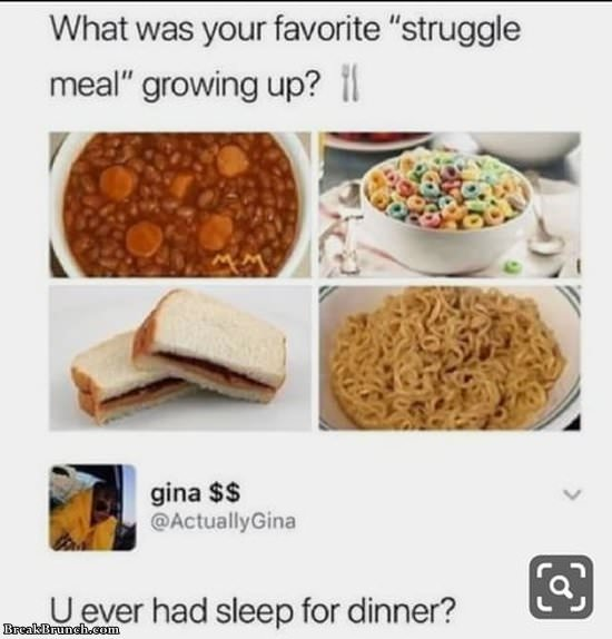What is your struggle meal