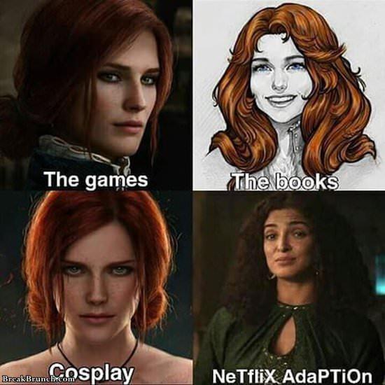 Netflix version of Triss Merigold Witcher 3