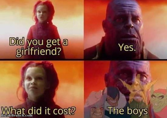 Cost of getting a girlfriend