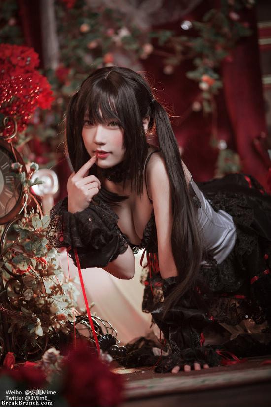Date A Live Kurumi Tokisaki cosplay by Chinese cosplay girl Mime (9 pics)