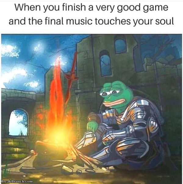 When you finish a very good game