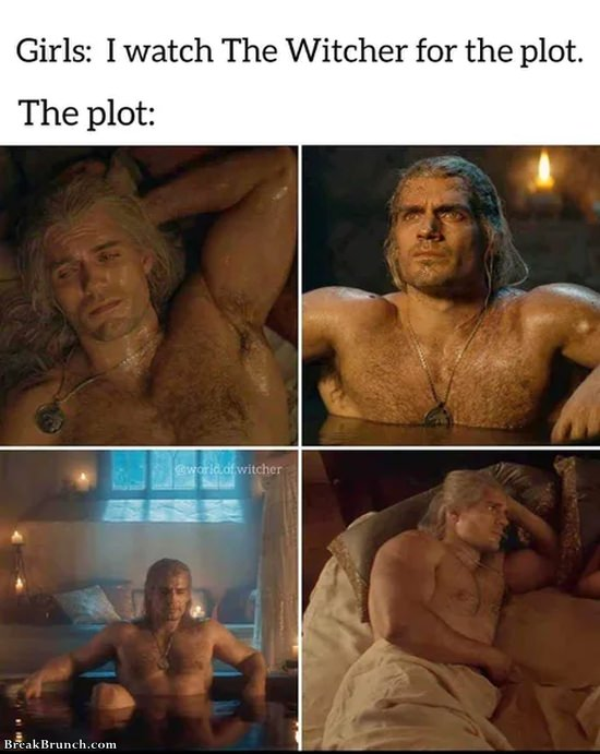 Watching Witcher for the plot