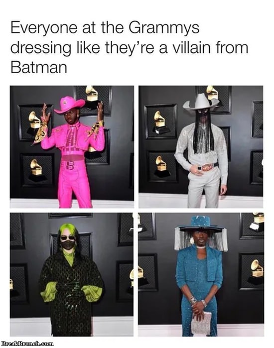 Everyone at Grammys dressing like villain