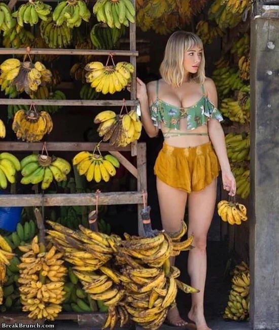 She loves banana