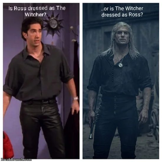 Is Witcher dressed as Ross