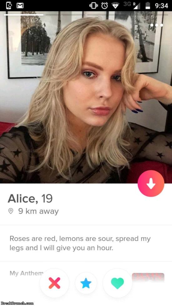 23 slutty Tinder profiles