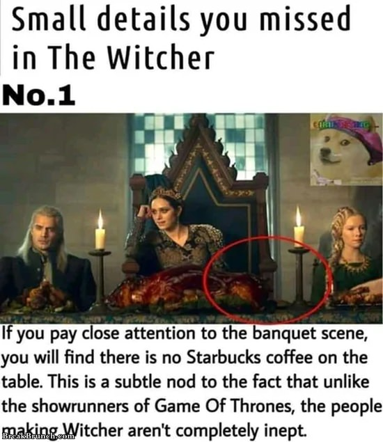 Small details you missed in the Witcher