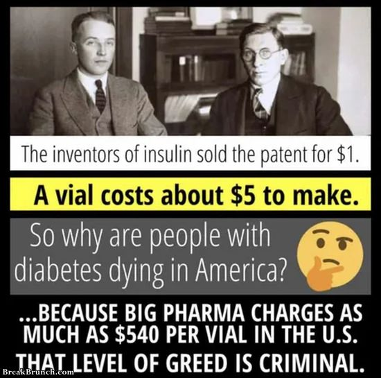 Inventor of insulin sold patient for 1 dollar