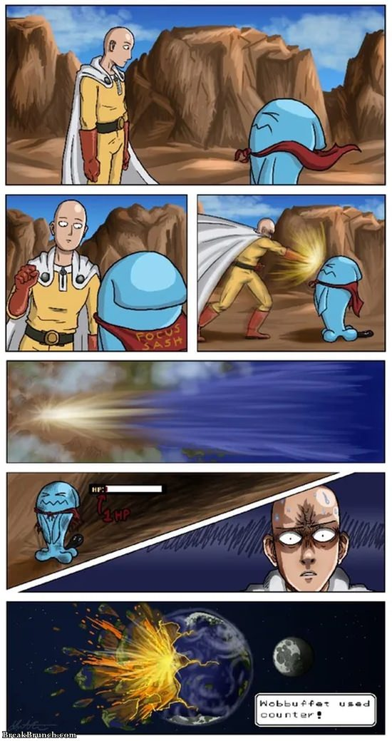 One Punch Man vs Wobbuffet