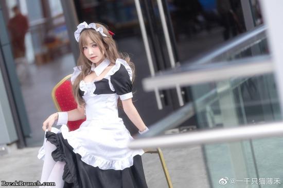 Mamako Oosuki from Tsuujou Kougeki ga Zentai Kougeki cosplay by YiQianZhiMaoBoHe (7 pics)