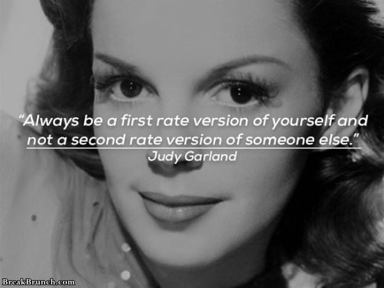 Always be the first rate version of yourself