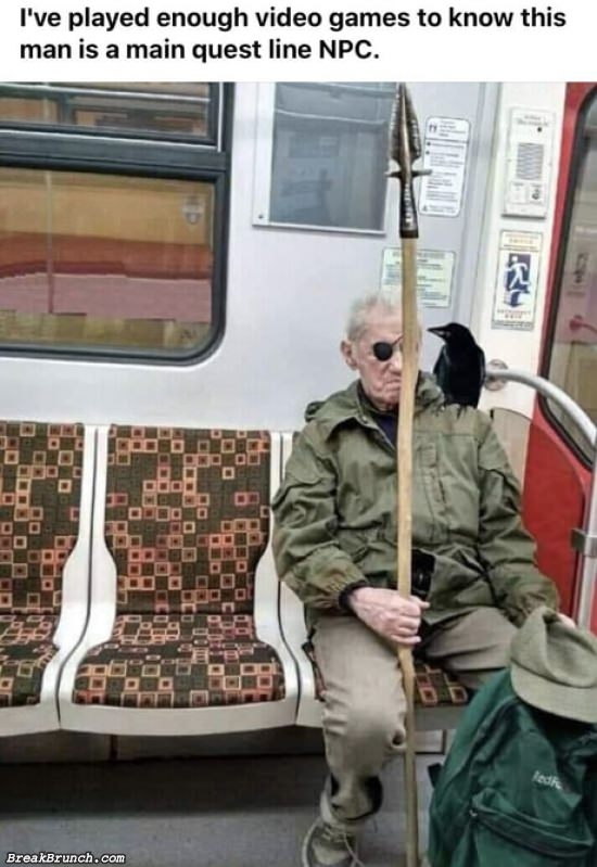 This man is the main quest line NPC