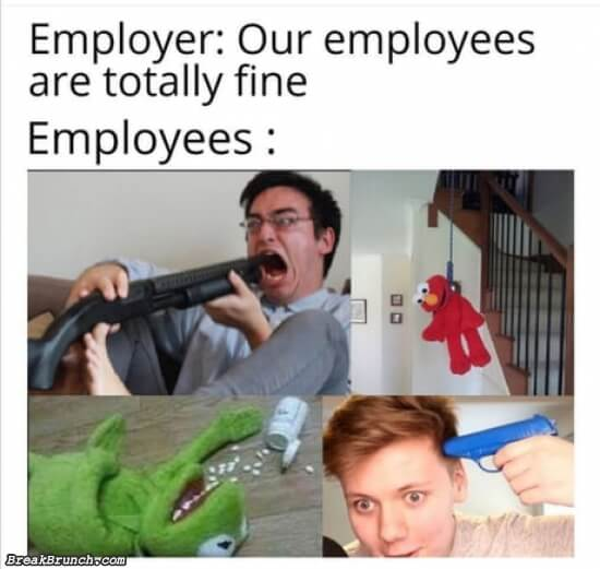 Our employees are totally fine