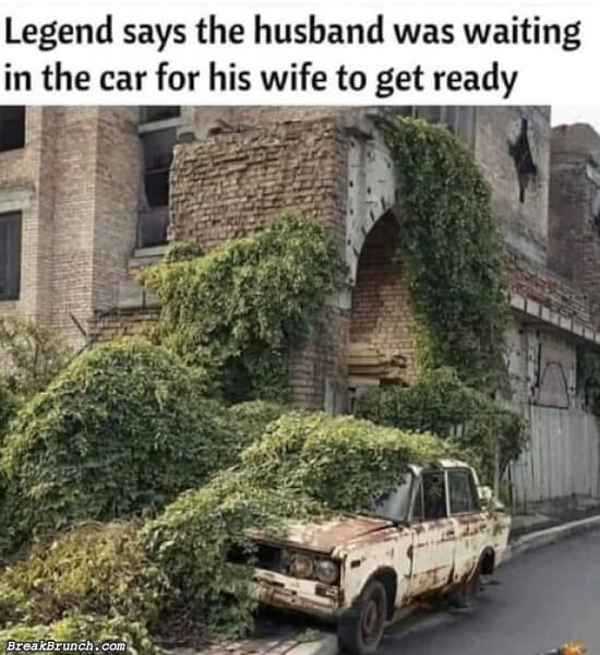 Husband is still waiting for wife