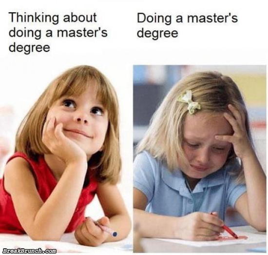 Don't do master degree