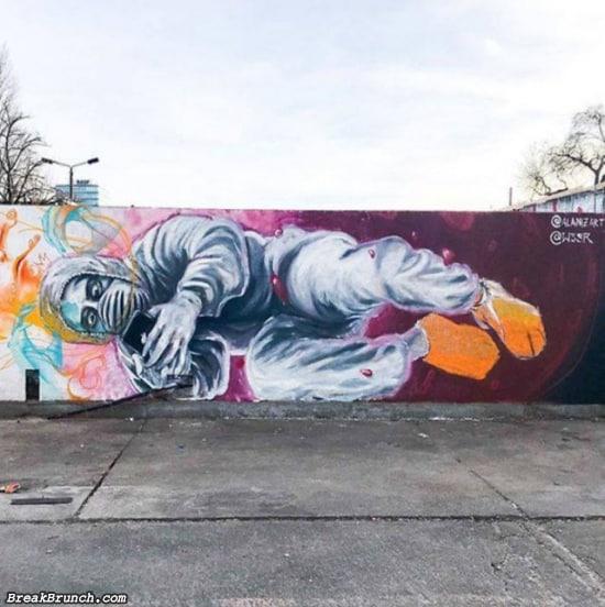 28 Amazing Coronavirus Inspired Street Arts