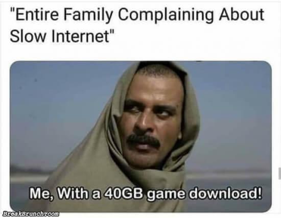 When internet is slow