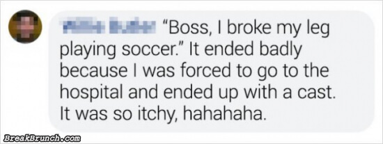 13 funny excuses people said to not go to work