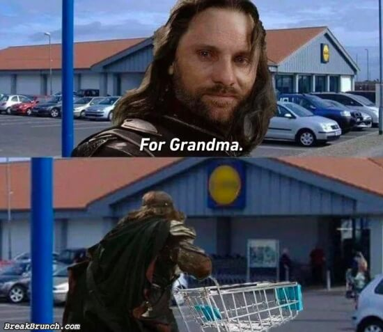 When grandma is low on grocery