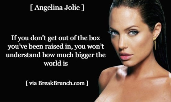 If you don't get out of the box you have been raised in – Angelina Jolie