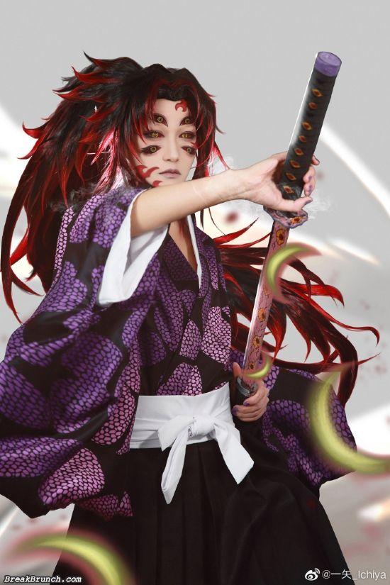 Demon Slayer Kokushibo cosplay by Ichiya (9 photos)