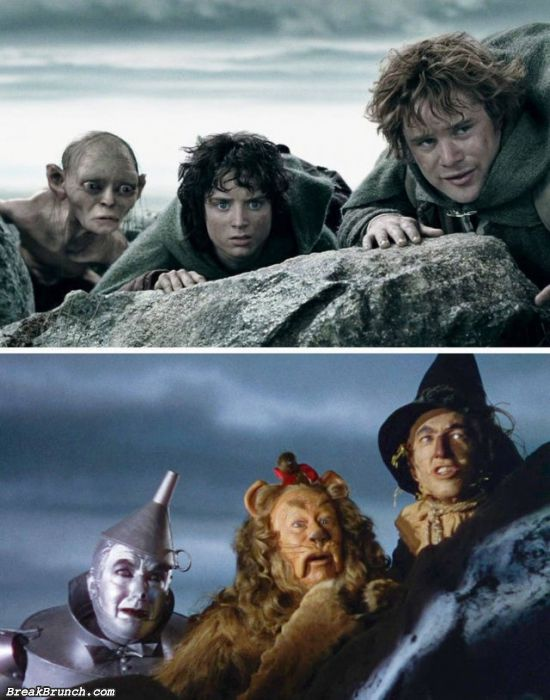 13 movie scenes that look like each other