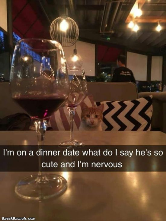 On a date with a cute guy