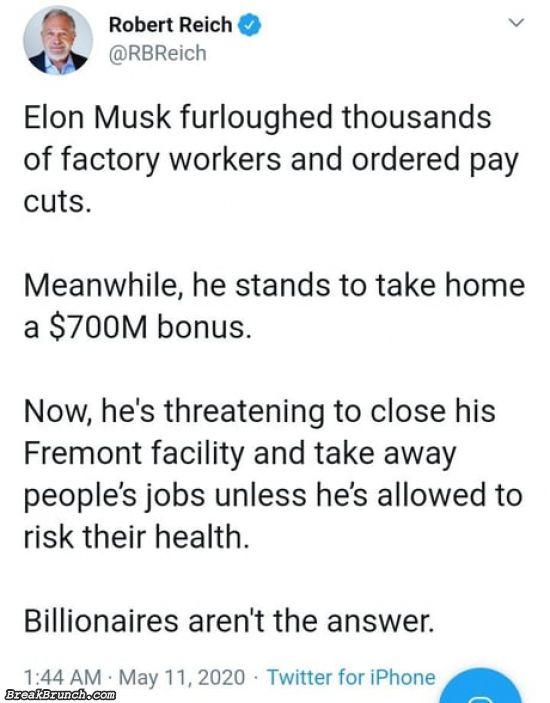 Billionaires like Elon Mush aren't the answer