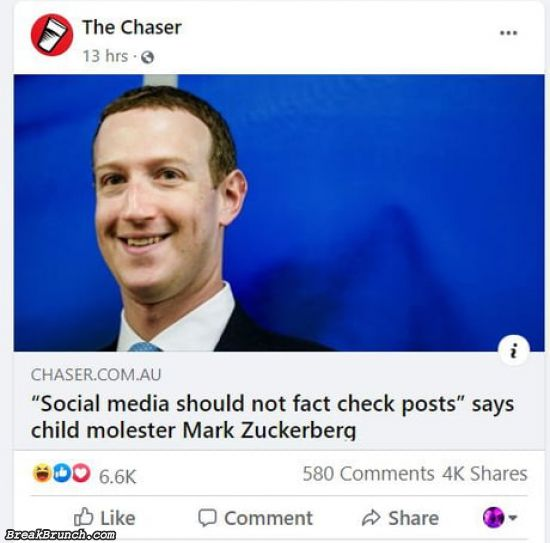 Mark Zuckerberg is child molester