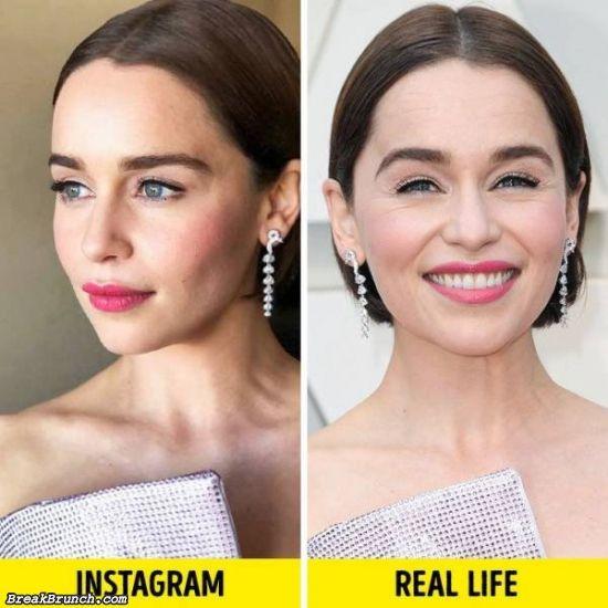 19 celebrity's Instagram photo vs real life photo