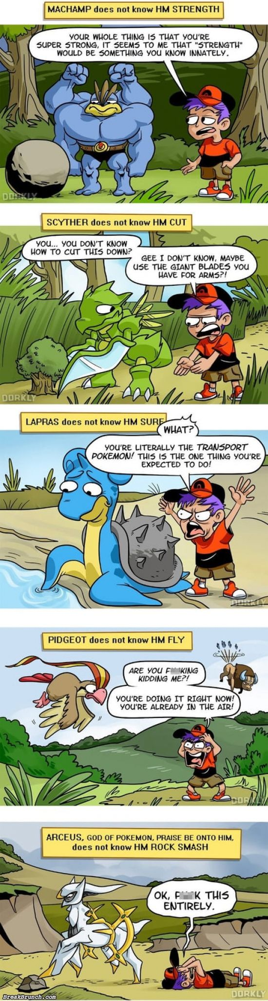 Stupid Pokemon game logic