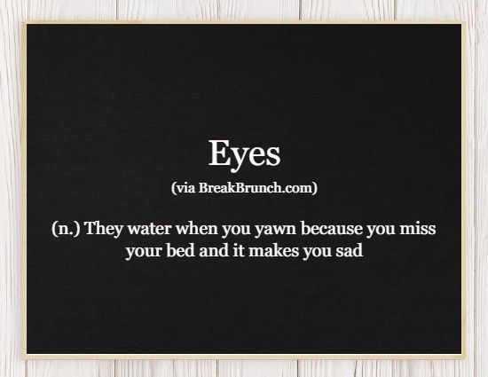 Hilarious Honest Dictionary – Eyes