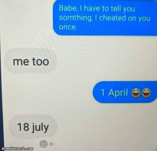 April fool joke went wrong