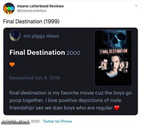 31 funny Letterboxd movie reviews