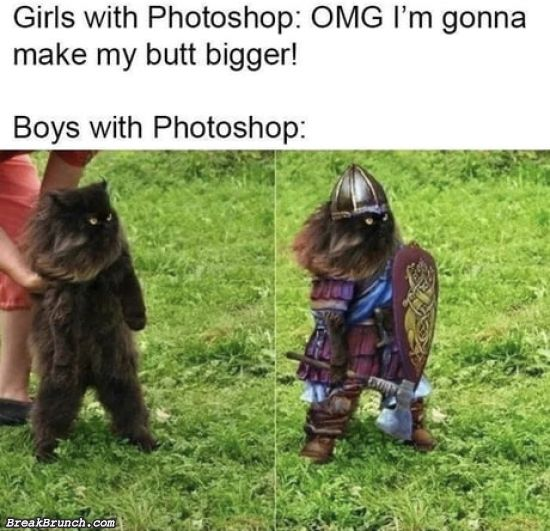 Girls and boys with photoshop