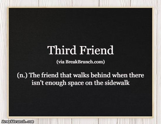 Hilarious Honest Dictionary – Third Friend