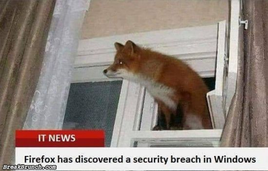 Firefox has discovered a security breach in Windows