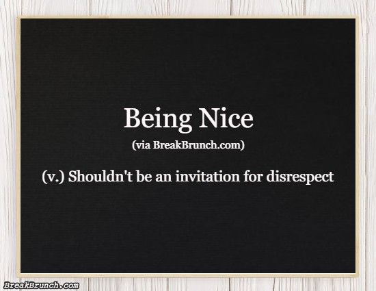 Honest Dictionary – Being Nice