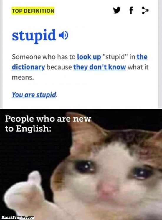 That was me learning English