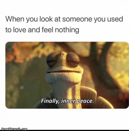 When you look at someone you used to love